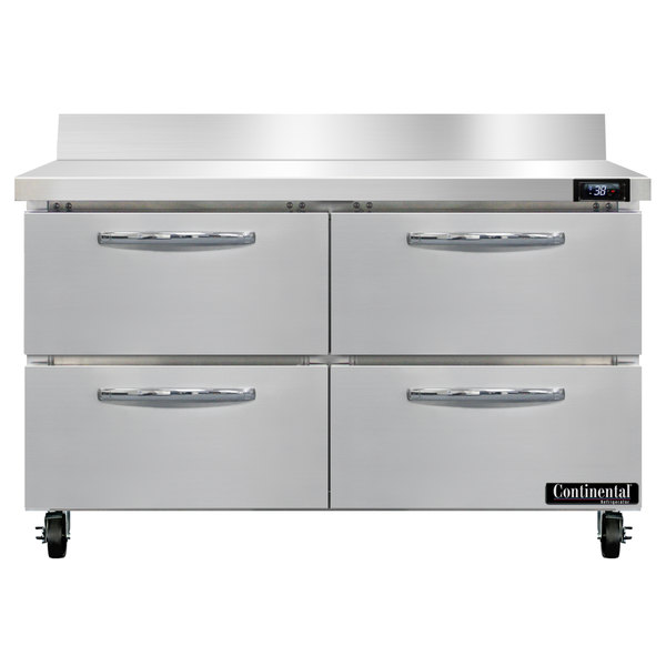 """Continental Refrigerator SW48-BS-D 48"""" Worktop Refrigerator with Four Drawers - 13.4 cu. ft."""