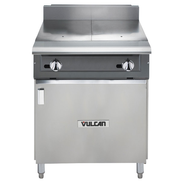 "Vulcan V224HB-NAT V Series Natural Gas Heavy-Duty Range with 24"" Hot Top and Cabinet Base - 60,000 BTU"