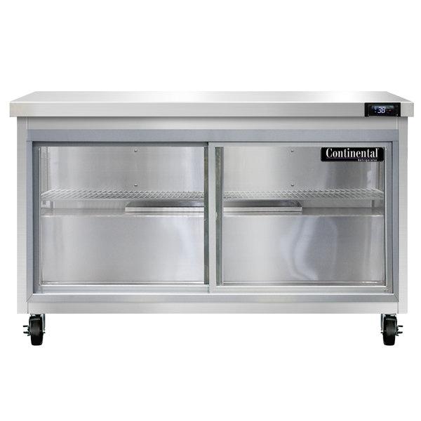 "Continental Refrigerator SW48-SGD 48"" Undercounter Refrigerator with Sliding Glass Doors"