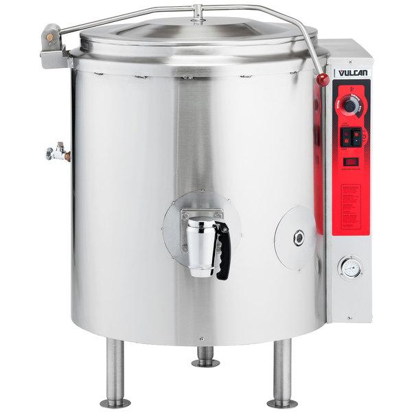 Vulcan K20GL-LP Liquid Propane 20 Gallon Stationary 2/3 Steam Jacketed Kettle - 100,000 BTU Main Image 1