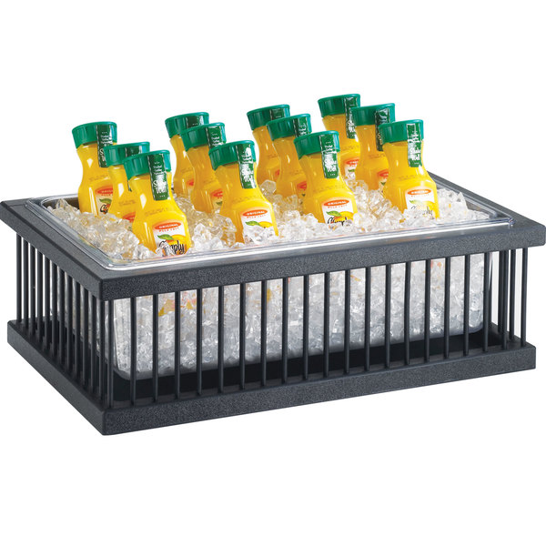 """Cal-Mil 451-12 Pillared Ice Housing with Clear Pan - 20"""" x 12"""" x 8"""""""