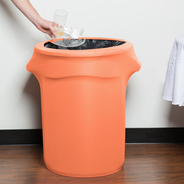 Marko EMB5026WC35030 Embrace 32 Gallon Peach Spandex Round Waste Container Cover