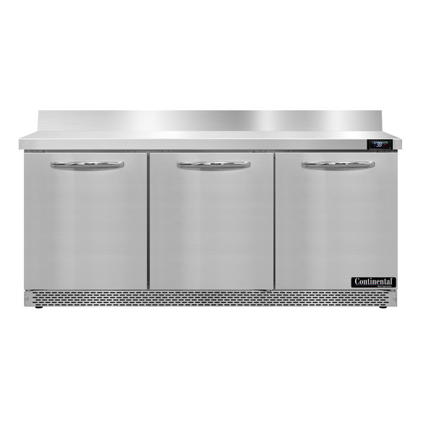 """Continental Refrigerator SW72-BS-FB 72"""" Front-Breathing Worktop Refrigerator - 20.6 cu. ft."""