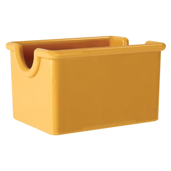 """GET SC-66-TY Mardi Gras 3 1/2"""" x 2 1/2"""" Tropical Yellow SAN Plastic Sugar Caddy - 24/Case"""