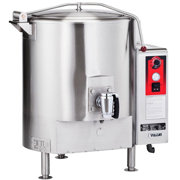 Vulcan GL80E-NAT Natural Gas 80 Gallon Stationary Steam Jacketed Gas Kettle - 135,000 BTU