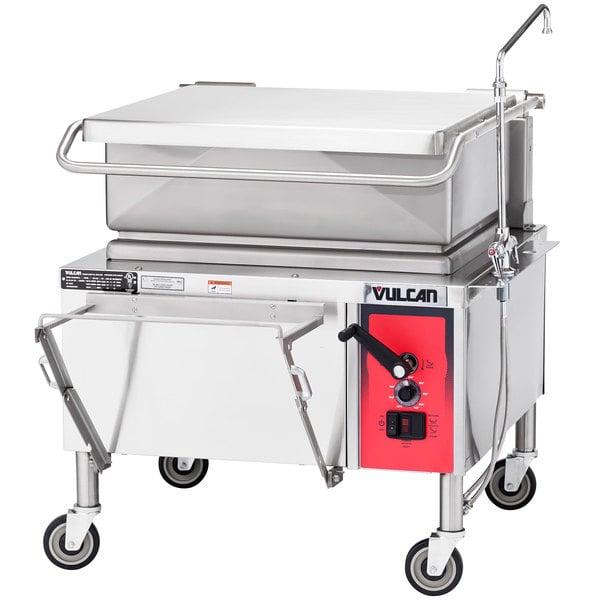 Vulcan VE30 30 Gallon Manual Tilt Braising Pan / Tilt Skillet - 208V, 3 Phase, 9 kW Main Image 1