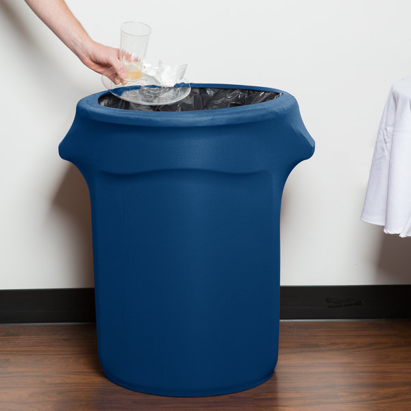 Marko EMB5026WC35062 Embrace 32 Gallon Cadet Blue Spandex Round Waste Container Cover
