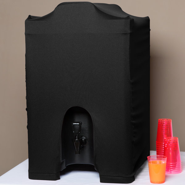 Marko EMB5026BS10014 Embrace 10 Gallon Black Spandex Beverage Server Cover
