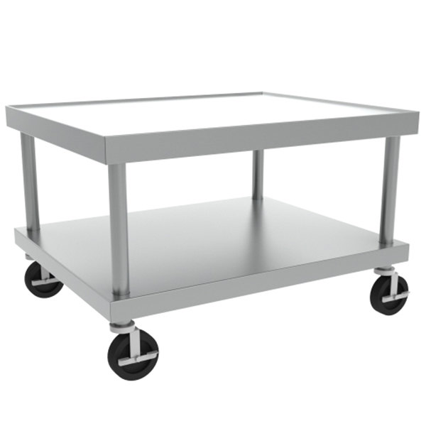 "Vulcan STAND/C-VCCB48 30"" x 49"" Mobile Stainless Steel Equipment Stand"