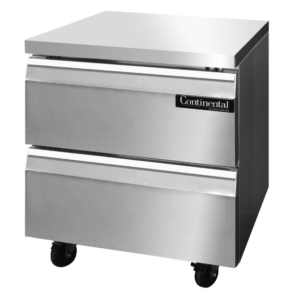 """Continental Refrigerator SWF32-D 32"""" Undercounter Freezer with Two Drawers"""