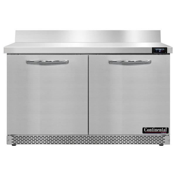"Continental Refrigerator SWF48-BS-FB 48"" Front-Breathing Worktop Freezer - 13.4 cu. ft."