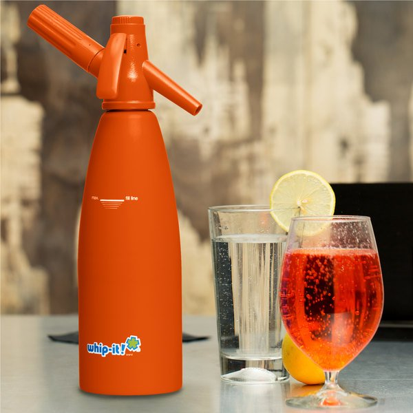 Whip-It SSSV-08R Orange Soda Siphon - 1 Liter