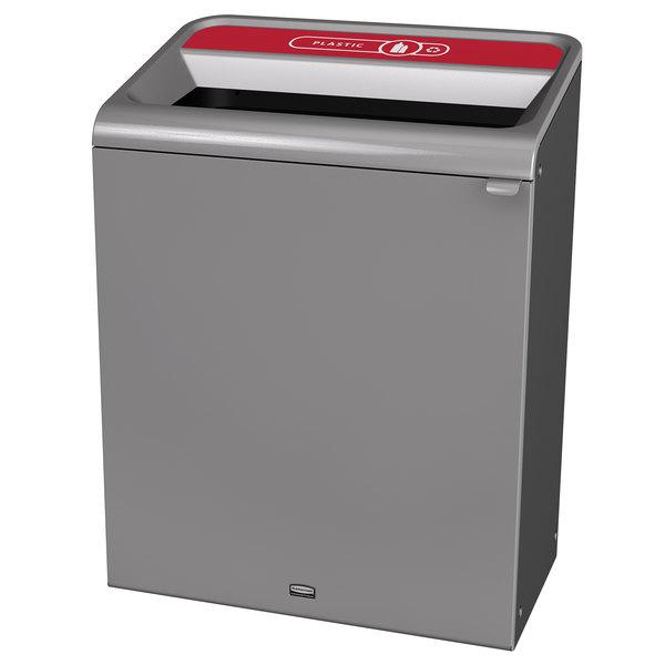 Rubbermaid 1961510 Configure 45 Gallon Stenni Gray 1 Stream Plastic Indoor Recycling Container