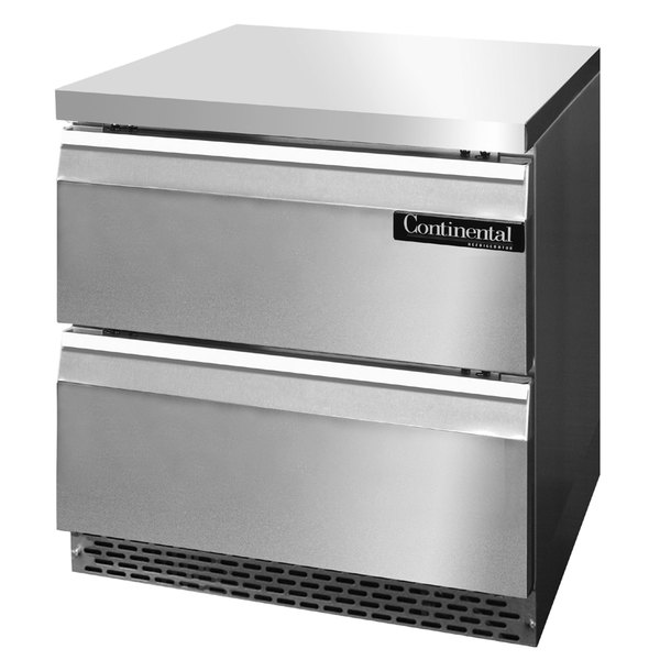 """Continental Refrigerator SWF32-FB-D 32"""" Front Breathing Undercounter Freezer with Two Drawers"""