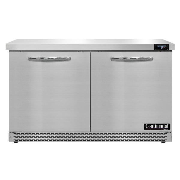 "Continental Refrigerator SWF48-FB 48"" Front Breathing Undercounter Freezer"