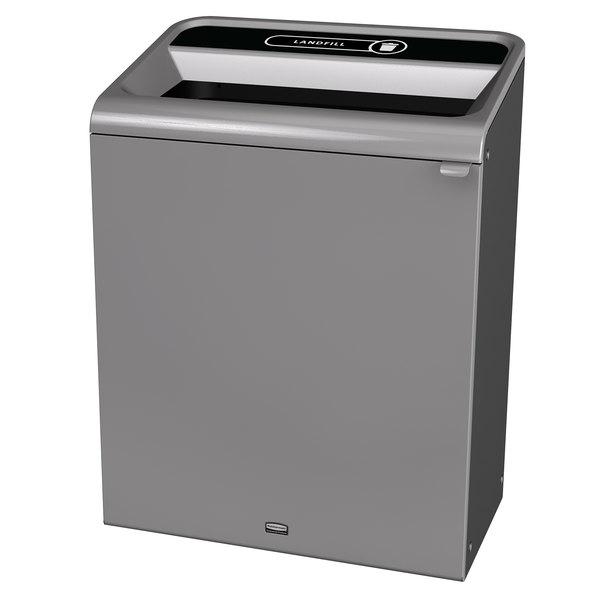 Rubbermaid 1961507 Configure 45 Gallon Stenni Gray 1 Stream Landfill Indoor Rectangular Waste Container Main Image 1