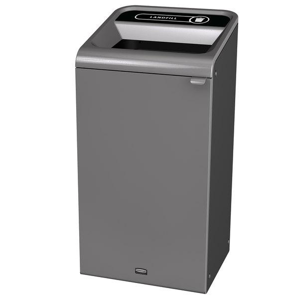 Rubbermaid 1961621 Configure 23 Gallon Stenni Gray 1 Stream Landfill Indoor  Waste Container