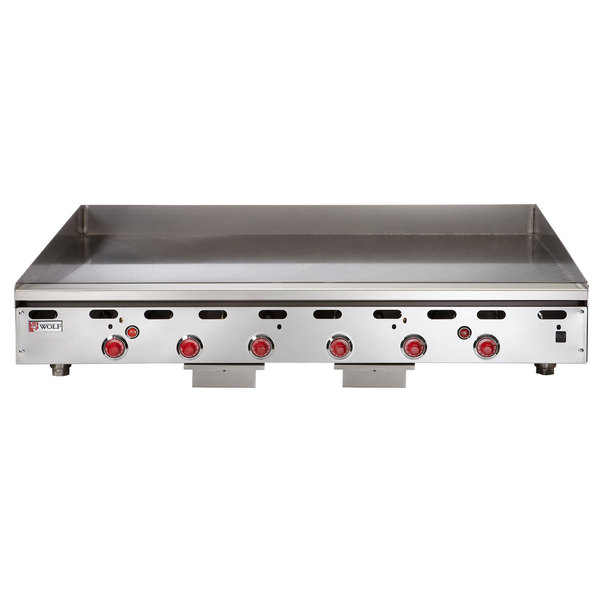 "Wolf ASA72-24-LP Liquid Propane 72"" Countertop Griddle with Snap-Action Thermostatic Controls - 162,000 BTU"