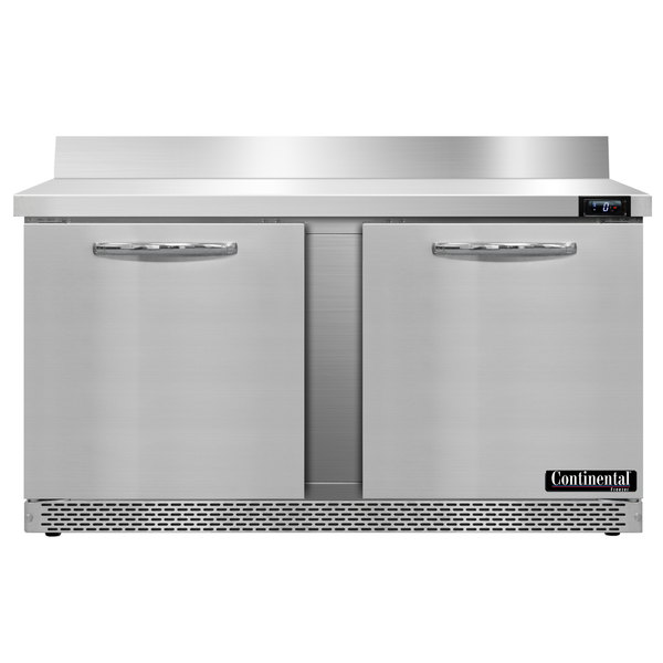 "Continental Refrigerator SWF60-BS-FB 60"" Front-Breathing Worktop Freezer - 17 cu. ft."