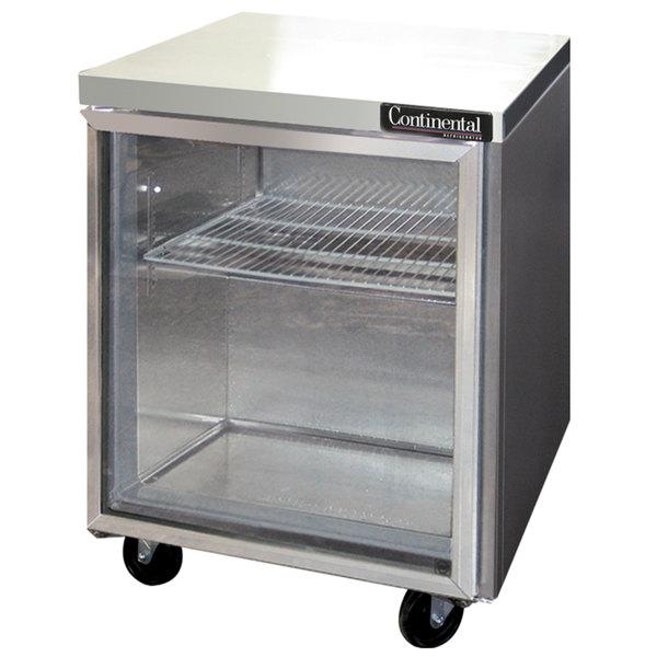 "Continental Refrigerator SWF27-GD 27"" Undercounter Freezer with Glass Door"