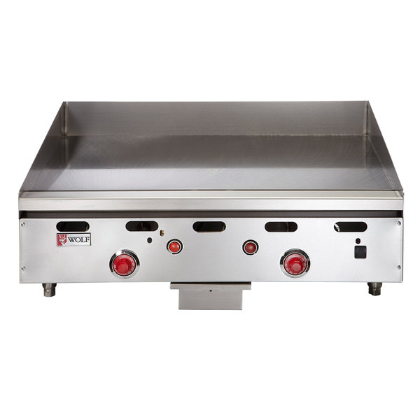 "Wolf ASA24-24 -NAT Natural Gas 24"" Countertop Griddle with Snap-Action Thermostatic Controls - 54,000 BTU"