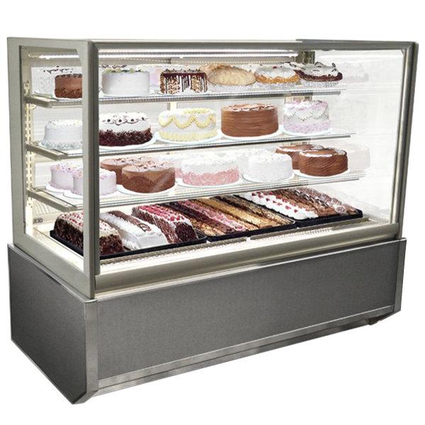 "Federal Industries ITR4826-B18 Italian Series 48"" Floor Model Refrigerated Bakery Display Case - 15.4 cu. ft."
