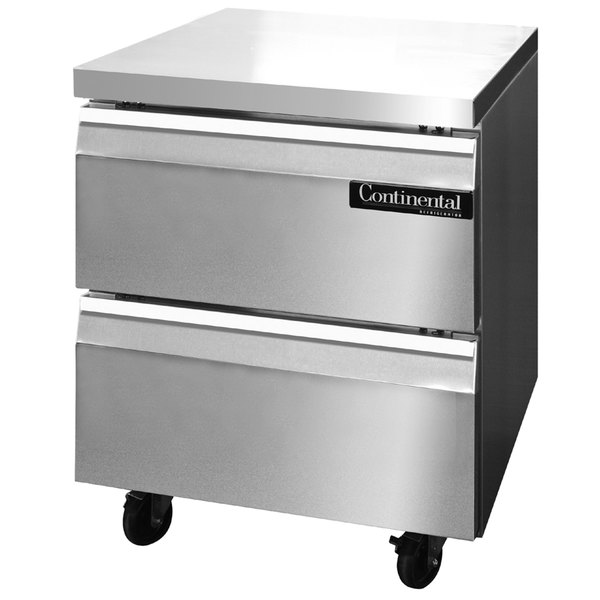 """Continental Refrigerator SWF27-D 27"""" Undercounter Freezer with Two Drawers"""