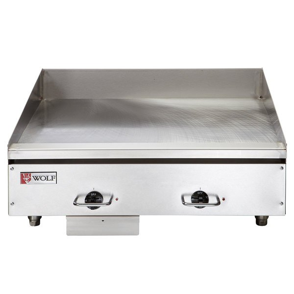 """Wolf WEG24E-240/1 24"""" Electric Countertop Griddle with Thermostatic Controls - 240V, 1 Phase, 10.8 kW Main Image 1"""