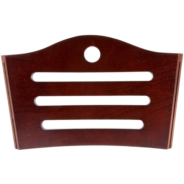 Lancaster Table & Seating Mahogany Finish Bistro Back Rest