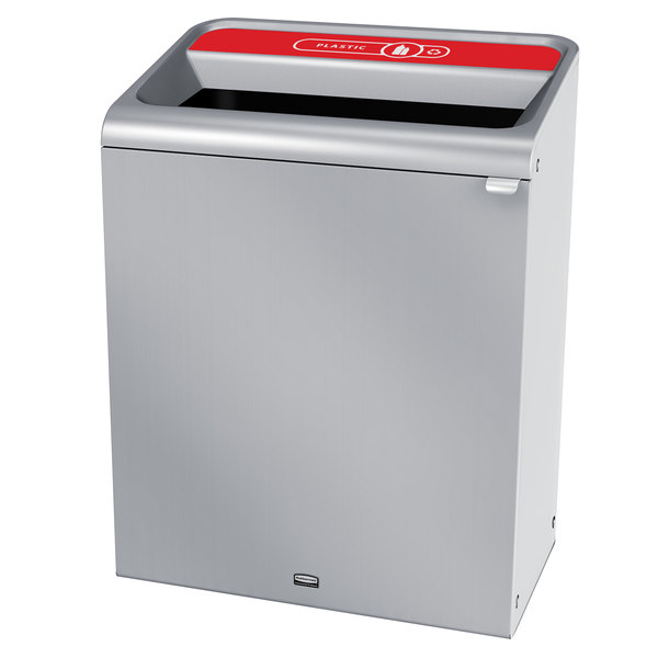 Rubbermaid 1961707 Configure 45 Gallon Stainless Steel 1 Stream Plastic Indoor Recycling Container