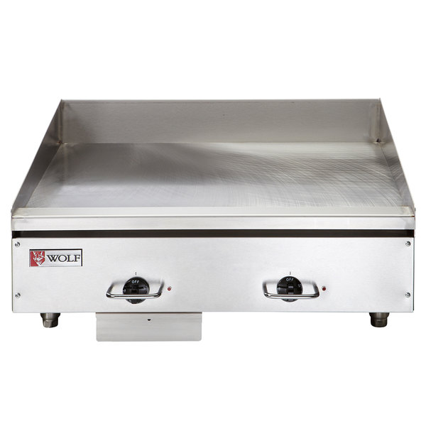 "Wolf WEG24E-240/3 24"" Electric Countertop Griddle with Thermostatic Controls - 240V, 3 Phase, 10.8 kW"