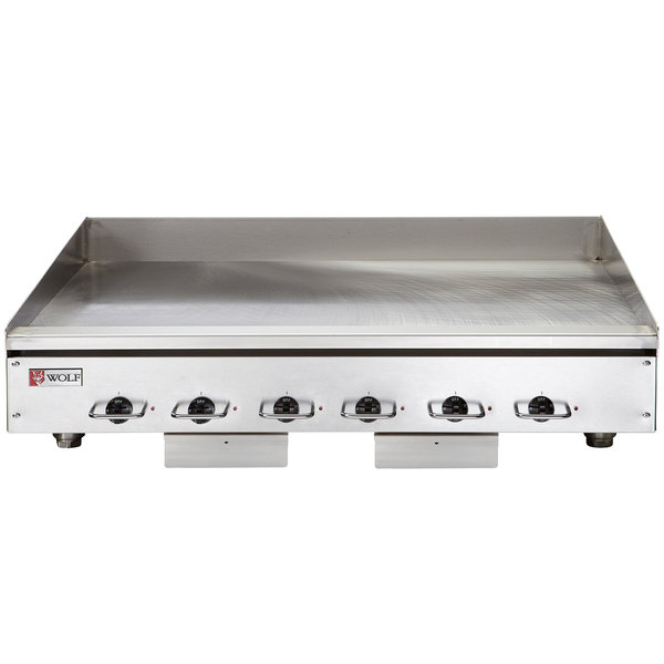 """Wolf WEG72E-208/1 72"""" Electric Countertop Griddle with Thermostatic Controls - 208V, 1 Phase, 32.4 kW"""
