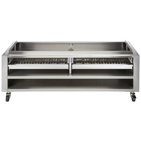"Wolf SMOKER-VCCB72 72"" Wood Assist Stand with Two Wood Trays"