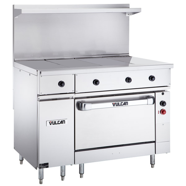 "Vulcan EV48S-4HT480 Endurance Series 48"" Electric Range 4 Hot Tops and Oven Base - 480V, 25 kW"