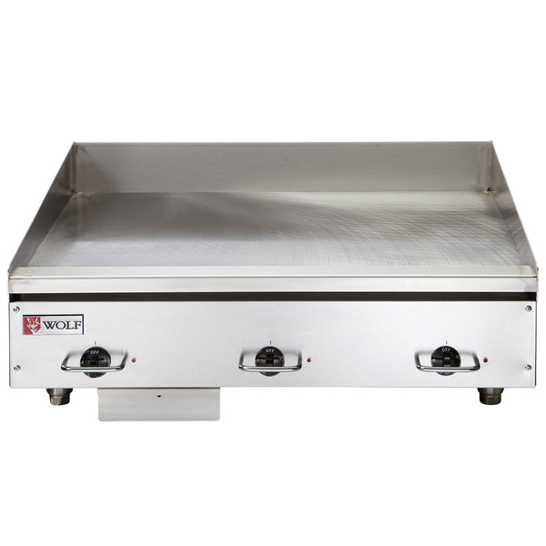 "Wolf WEG36E-240/3 36"" Electric Countertop Griddle with Thermostatic Controls - 240V, 3 Phase, 16.2 kW"