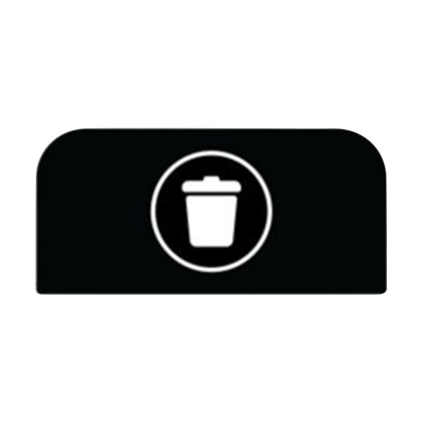 Rubbermaid 1961572 Configure Black Landfill Sign for 15 Gallon Waste Container