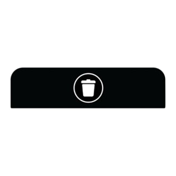 Rubbermaid 1961574 Configure Black Landfill Sign for 33 Gallon Waste Container