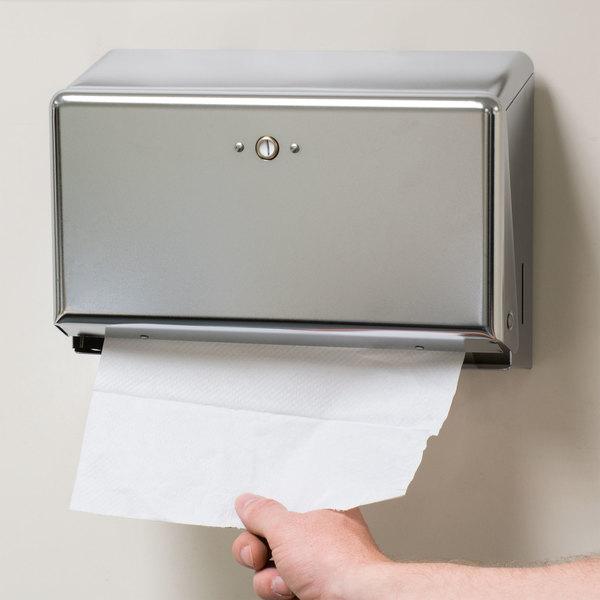 san jamar t1950xc chrome mini c fold multi fold towel dispenser - Paper Towel Dispenser