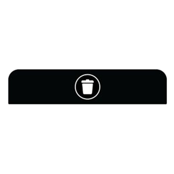 Rubbermaid 1961575 Configure Black Landfill Sign for 45 Gallon Waste Container