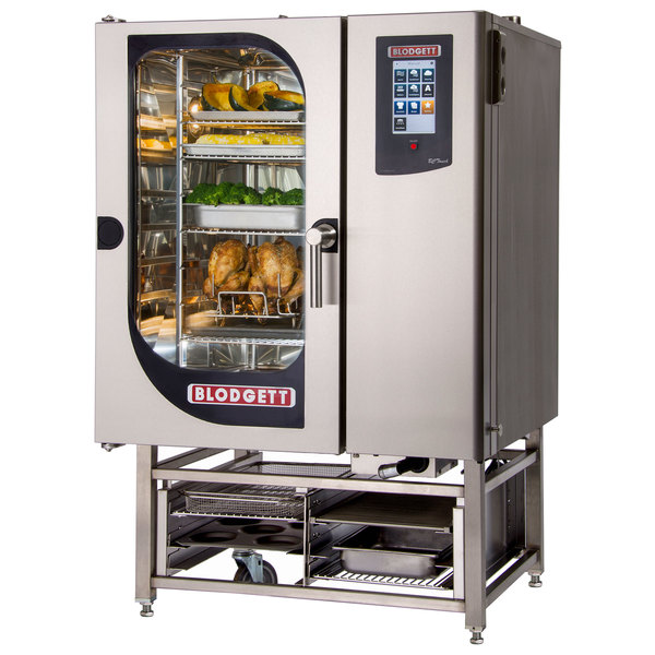 Blodgett BCT-101E-PT Pass-Through Electric Combi Oven with Touchscreen Controls - 240V, 3 Phase, 18 kW