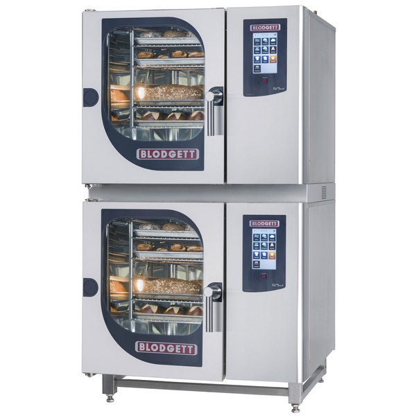 Blodgett BLCT-61-61E Double Boilerless Electric Combi Oven with Touchscreen Controls - 208V, 3 Phase, 9 kW / 9 kW