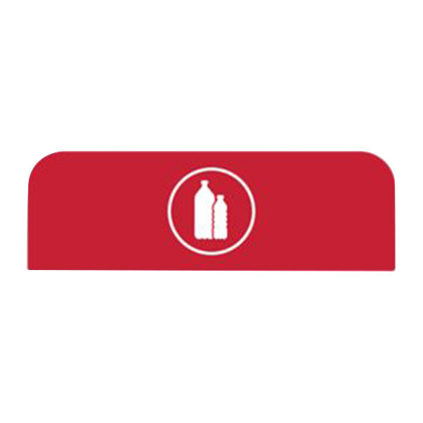 Rubbermaid 1961585 Configure Red Plastic Sign for 23 Gallon Waste Recycling Container Main Image 1
