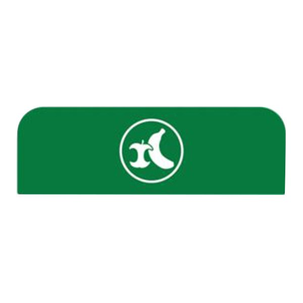 Rubbermaid 1961581 Configure Green Organic Waste Sign for 23 Gallon Waste Recycling Container