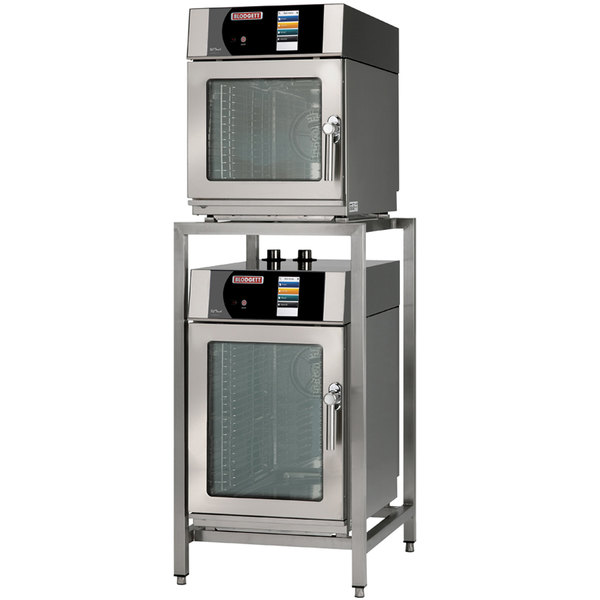 Blodgett BLCT-6-10E-240/3 Double Mini Boilerless Electric Combi Oven with Touchscreen Controls - 240V, 3 Phase, 9.2/13.8 kW