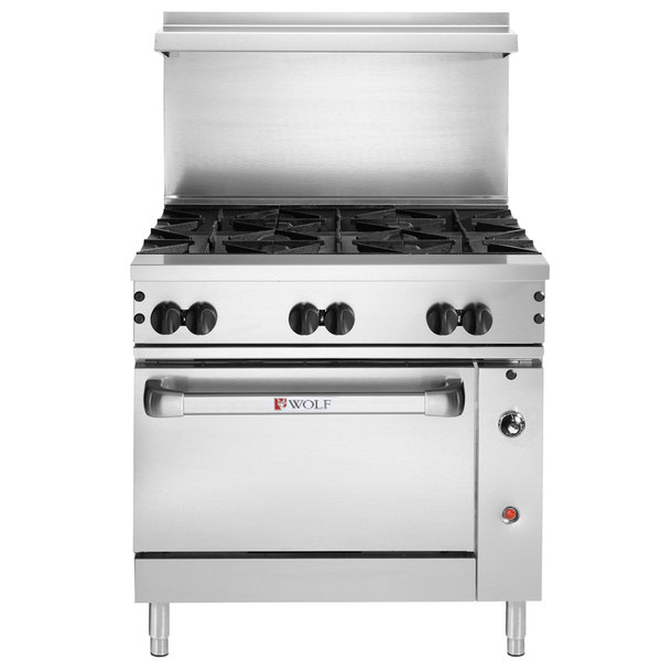 """Wolf C36S-6BN Challenger XL Series Natural Gas 36"""" Manual Range with 6 Burners and Standard Oven - 215,000 BTU"""