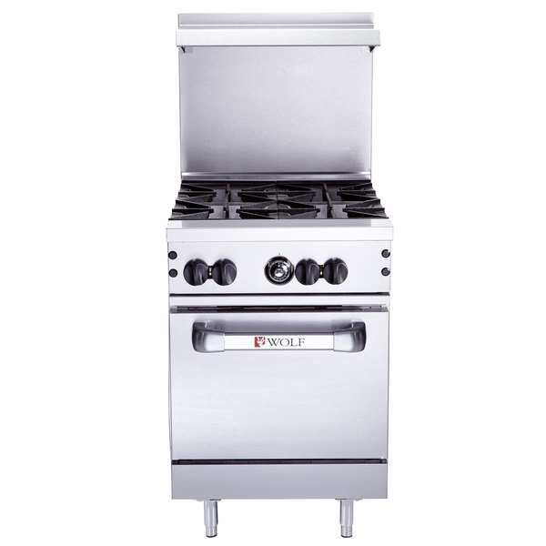 Wolf C24s 4bn Challenger Xl Series Natural Gas 24 Range With 4 Burners And Standard Oven 143 000 Btu