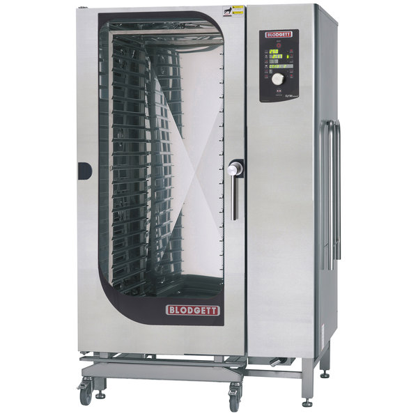 Blodgett BLCM-202G Natural Gas Roll-In Boilerless Combi Oven with Dial Controls - 190,000 BTU
