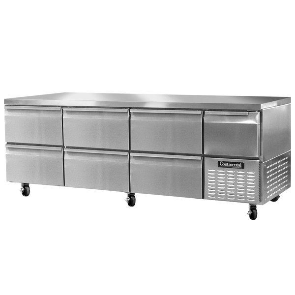 """Continental Refrigerator RA93N-D 93"""" Undercounter Refrigerator with 6 Drawers and 1 Half Door - 32 cu. ft. Main Image 1"""