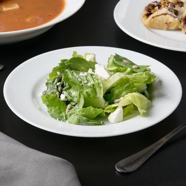 "10 Strawberry Street RB0004 Classic White 7 3/4"" White Porcelain Salad / Dessert Plate - 24/Case"