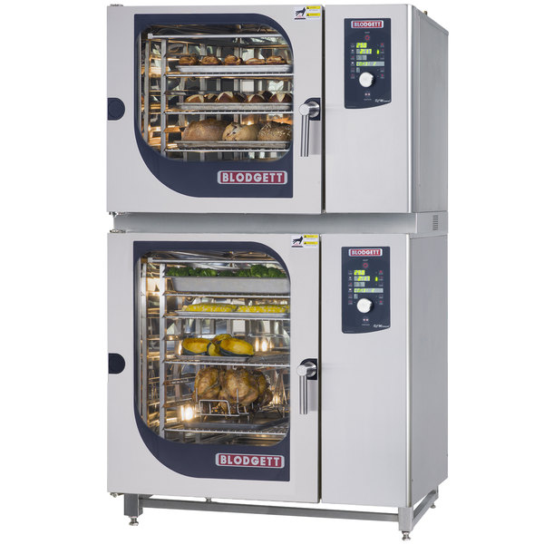 Blodgett BCM-62-102E Double Electric Combi Oven with Dial Controls - 480V, 3 Phase, 21 kW / 27 kW